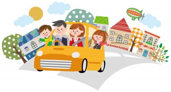 家族とドライブ