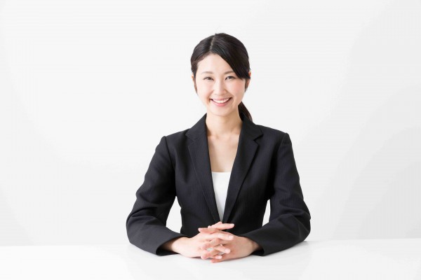 asian businesswoman sitting
